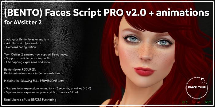 [Black Tulip] Script - BENTO Faces PRO+Anims - AVsitter Plugin