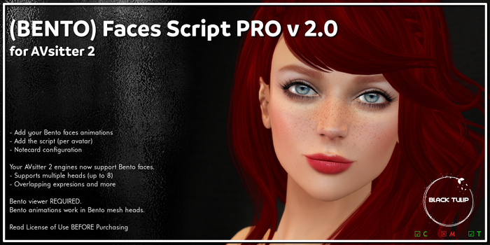 [Black Tulip] Script - BENTO Faces PRO 2 - AVsitter Plugin