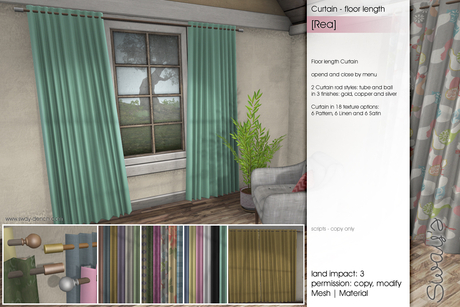 Sway's [Rea] Curtain floor length
