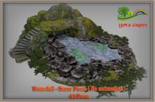 Lady's Garden - Waterfall - Stone Pond (No animation) 48 Prim