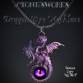 DragonEye Purple Necklace Stone's Works