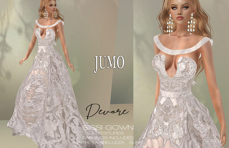 JUMO Originals - Sissi Gown Devore - ADD ME