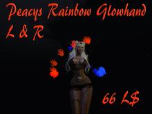 Peacy`s Rainbow Glowhand L & R (wear to unpack) *