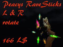 Peacy`s RaveSticks L & R (wear to unpack) *