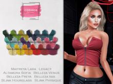 [COSMOS] Dana Zip Top Bold / 18 Colors Fatpack