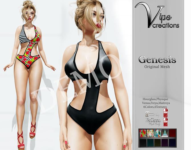 [Vips Creations] - DEMO - Original Mesh Swimsuit - [Genesis]FIT