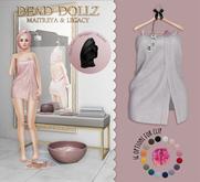 Dead Dollz - Me Time Towels - White