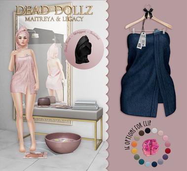 Dead Dollz - Me Time Towels - Blue