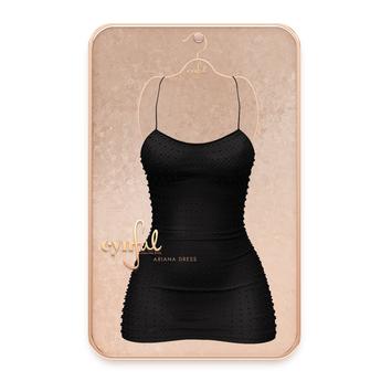 Cynful Ariana Dress - Black    [Maitreya Lara, Belleza Freya, Slink (HG), Legacy, (+Perky), Kupra