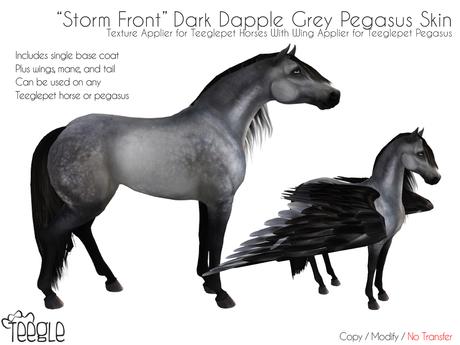 "[Teegle] ""Storm Front"" Dark Dapple Skin for Teeglepet Pegasus"