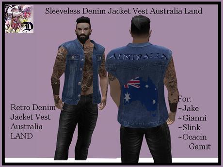 Sleeveless Denim Jacket Vest Australia Land (ADD ME)