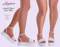 Mouse * Sandals Platform Xabo * White