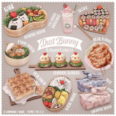 dust bunny . kawaii lunch . wrapped bento . pink