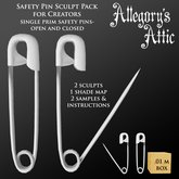Allegory's Attic- Safety Pin Sculpt Pack- open & closed