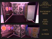 {DC} Backdrop End Party Pink Mesh