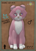 KittyCatS Box - Chateau Cat - Pink & White No. 1 - FLUFFY HEAD - Double Odyssey Love