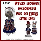 Miss Ing's Dinkie 4th of July Dress Set