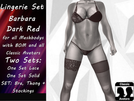 {RP} Lingerie Set Barbara Dark Red