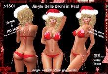 ::Foxy Fashions:: Jingle Bells Bikini in Red *Christmas SALE*