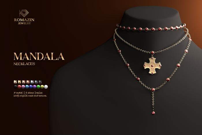 Romazin - Necklaces <Mandala>, resize, FatPack