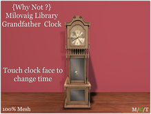 {Why Not ?} Milovaig Library Grandfather  Clock-Boxed