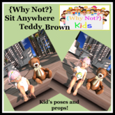 {Why Not?} Sit Anywhere Teddy-Brown-Boxed