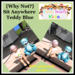 {Why Not?} Sit Anywhere Teddy-Blue-Boxed