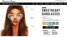 [Cinnamon Cocaine ] Sweetheart Sunglasses - Island Pack