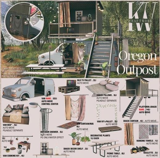 KraftWork Oregon Outpost . Suspend Platform + Shack RARE