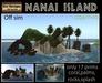 PROMO!!!!Nanai off sim island - tropical island -off sim island - outside sim island -tiki island