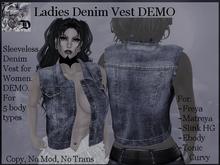 Ladies Denim Vest DEMO