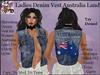 Ladies Denim Vest Australia Land