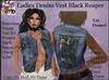 Ladies Denim Vest BLACK Reaper