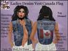Ladies Denim Vest CANADA Flag
