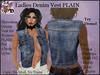 Ladies Denim Vest PLAIN