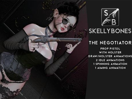 Skellybones -- The Negotiator - Flintlock Prop Pistol with 6 animations