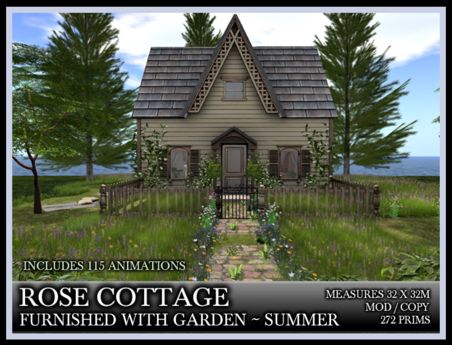TMG - ROSE COTTAGE - SUMMER - FURNISHED HOUSE AND GARDEN*