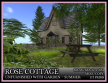 TMG - ROSE COTTAGE HOUSE AND GARDEN - SUMMER - UNFURNISHED*