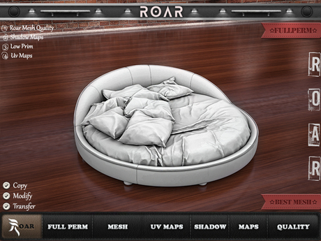 {::ROAR::} Full Perm Mesh Perfect Detail Romantic Round Bed