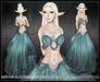 [Wishbox] Cassiopeia (Moonstone Blue) - Moon Priestess - Elf Goddess Silks Gown Dress Fantasy Fae Set