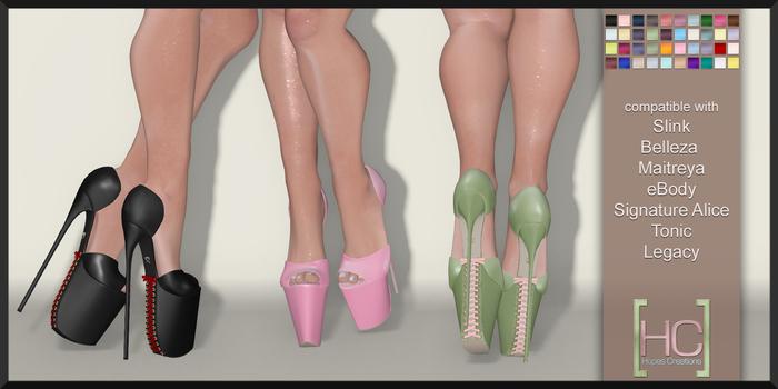 [HC] Milla Platform Heels Fat Pack for Slink, Belleza, Maitreya, eBody, Signature, Legacy & Tonic