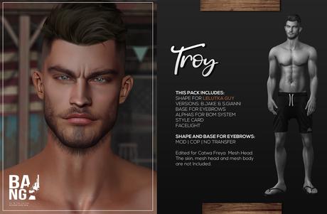 #BANG . Shape for Lelutka Guy . Troy *Wear*