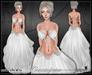 [Wishbox] Cassiopeia (Silver Snow) - Fantasy Moon Priestess - White Silks Dress with Silver Chains Jewelry