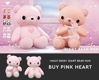 +Half-Deer+ Giant Bear Hug [Pink Heart]