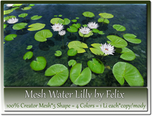 Mesh Water Lilly by Felix 5 Shape=4 Colors=1 Li each copy-mody