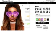 [Cinnamon Cocaine ] Sweetheart Sunglasses - Vibe