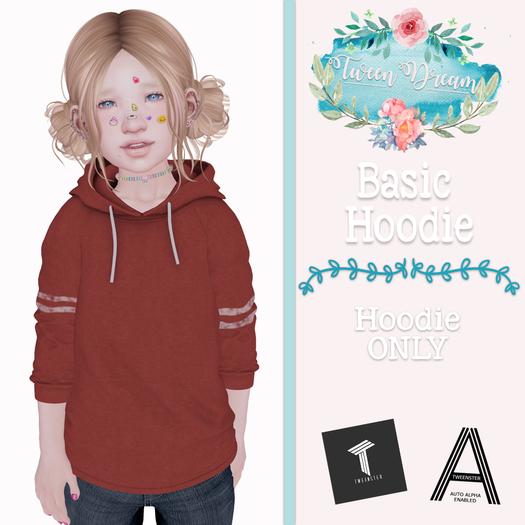 Tween Dream - Basic Hoodie - Maroon - ADD ME