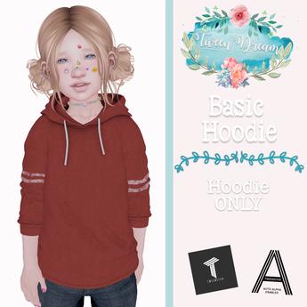 Tween Dream - Basic Hoodie - Maroon