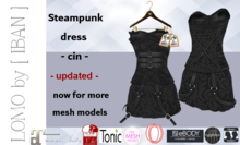 [ IBAN ] MESH DRESS STEAMPUNK BLACK MAITREYA CIN 15 updated!!