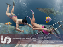 ACT5-565-Couple Snorkeling Holding Hands Pose BOXED (ADD)